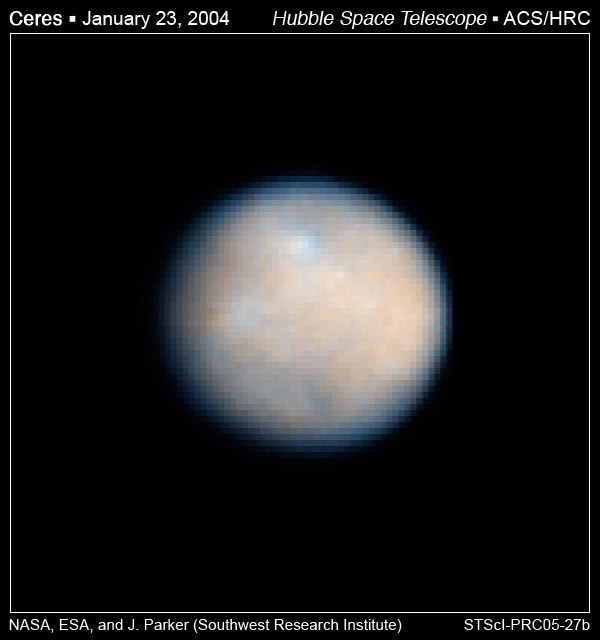 Ceres through Hubble telescope