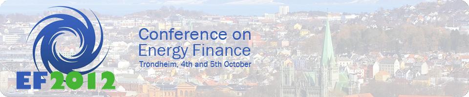 Energy Finance 2012 Banner